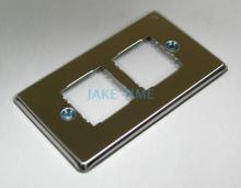 不鏽鋼蓋板(雙孔.方形插座適用)