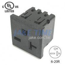 NEMA 6-20R 美規機櫃1U插座