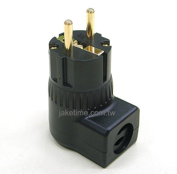 德規90度直角電源插頭 電鍍24K金 高品質享受