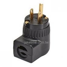 美規5-15P 90度直角電源插頭 電鍍24K金 高品質享受